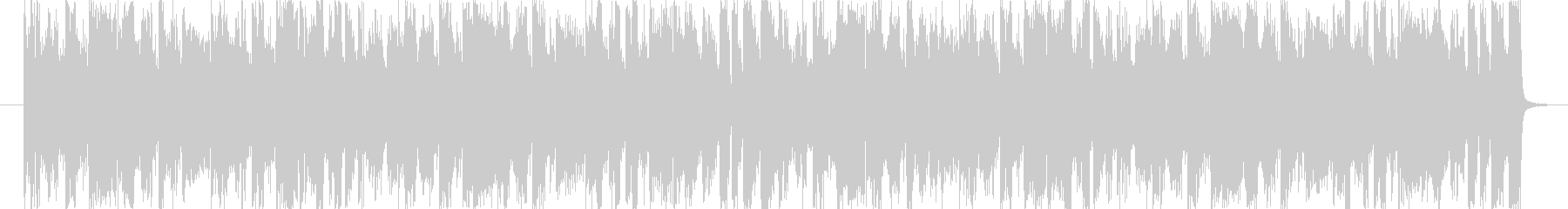ノリが良くおしゃれなサウンドの未再生の波形