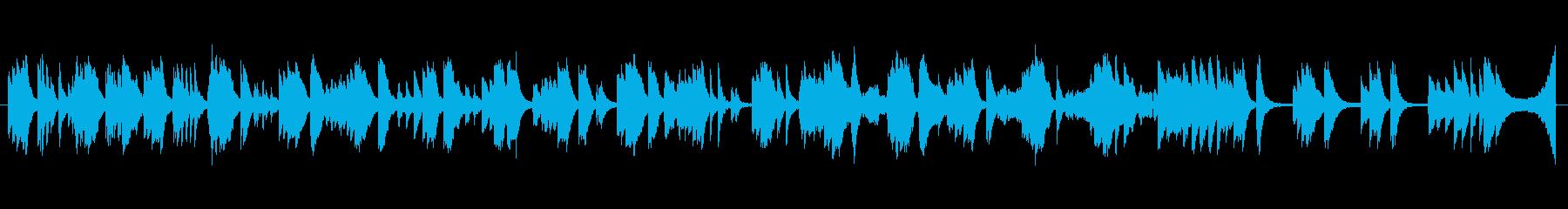 泉、癒し、森、がコンセプトのピアノ曲の再生済みの波形