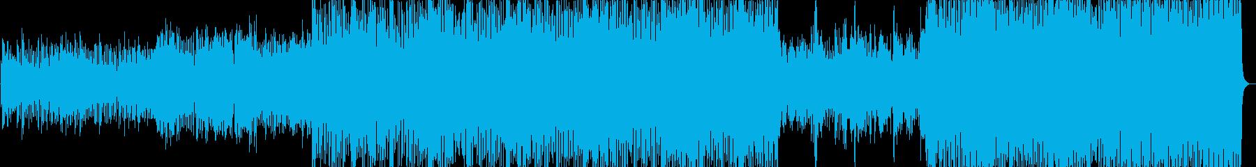 カフェで流れる軽快な弦楽器クラブ音楽の再生済みの波形