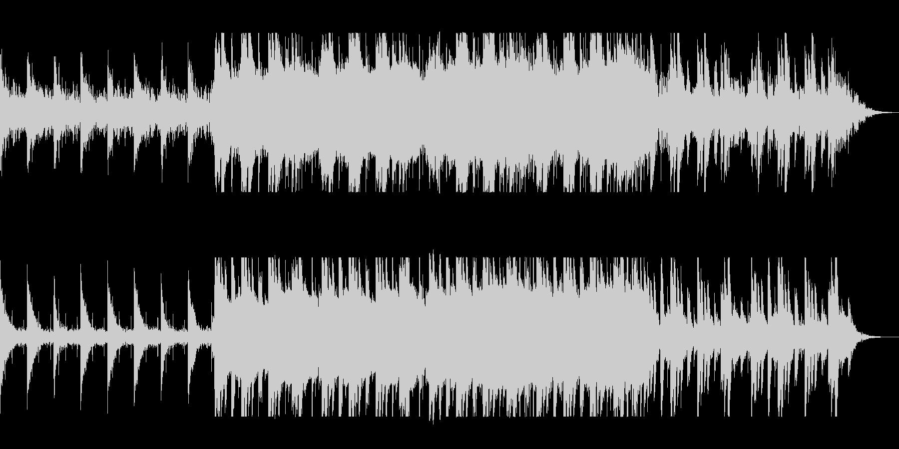 神秘的でゆったりしたピアノシンセサウンドの未再生の波形