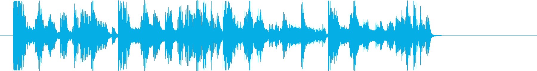 オシャレで切ないhiphopジングルの再生済みの波形