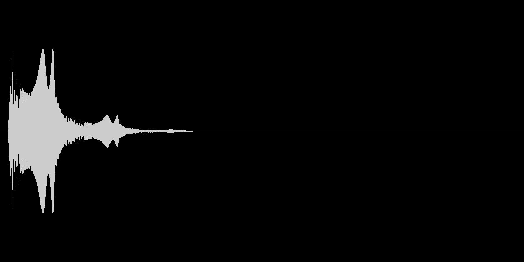 ぷにんっ(柔らか、触る、テンションUP)の未再生の波形