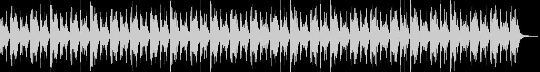 穏やかなピアノアンビエントの未再生の波形