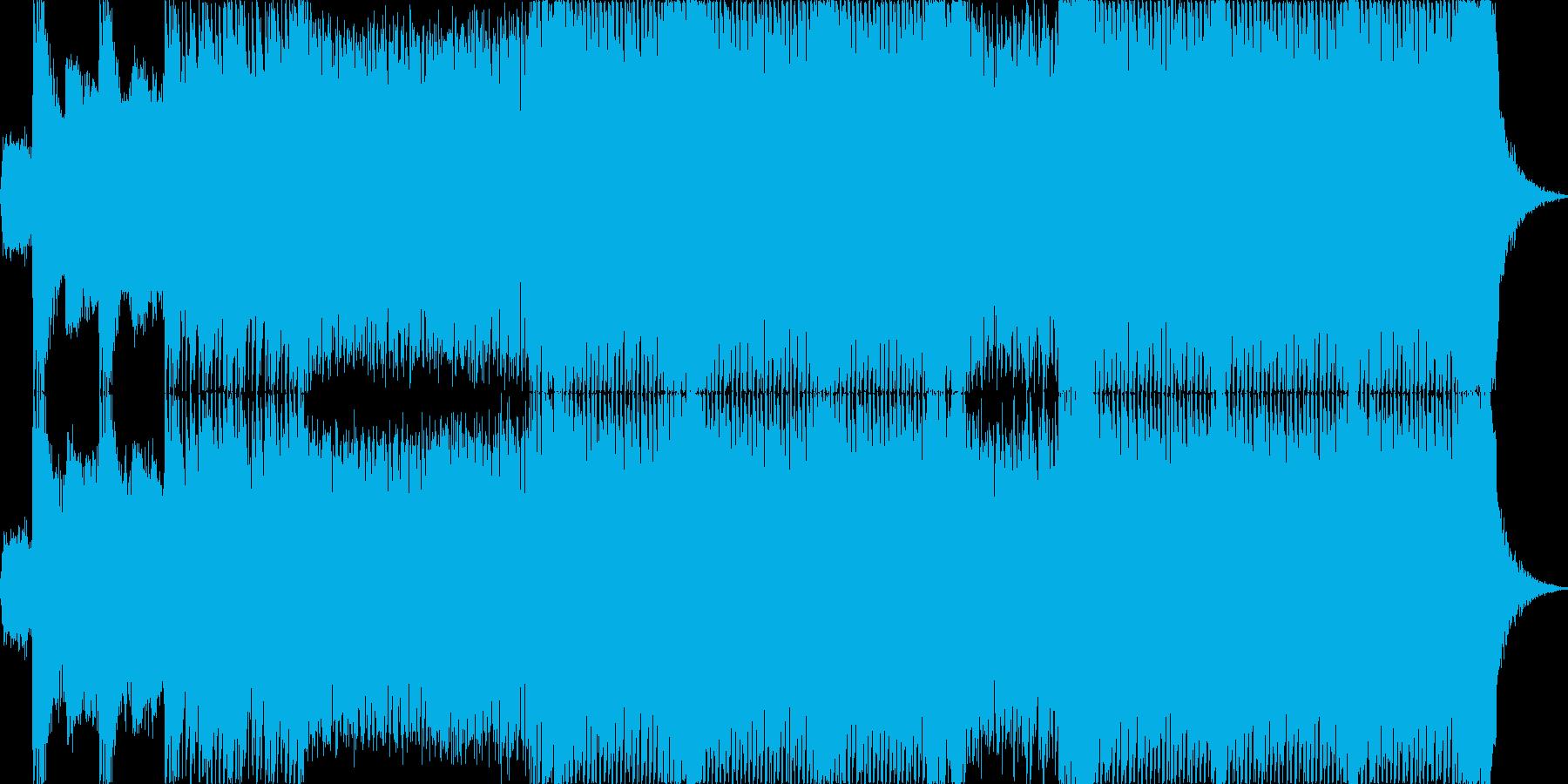 【リード抜】ヘヴィーで攻撃的エレキギターの再生済みの波形
