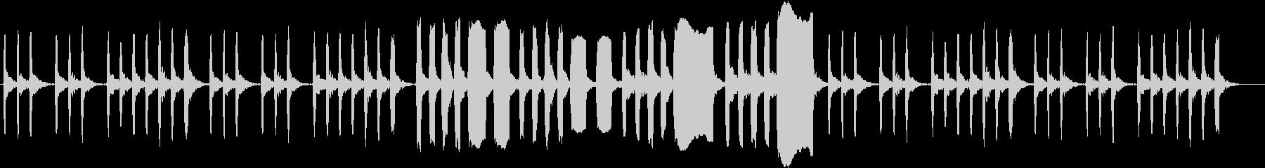 リコーダーで作ったほのぼのした印象の曲の未再生の波形