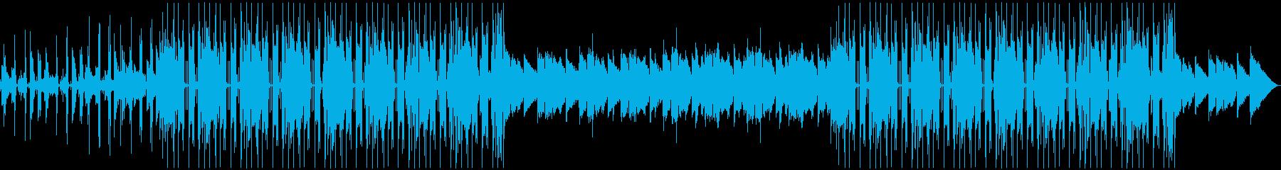 オシャレなギターのファンクなBGMの再生済みの波形