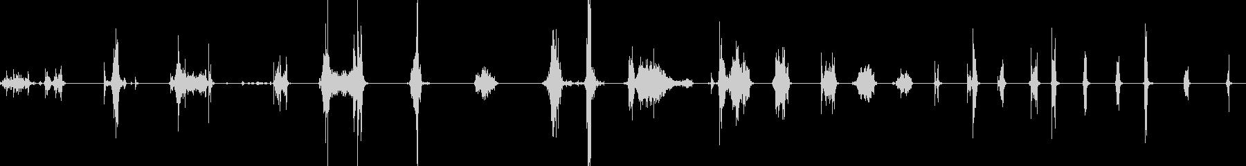 ビリビリと紙を破る音の未再生の波形