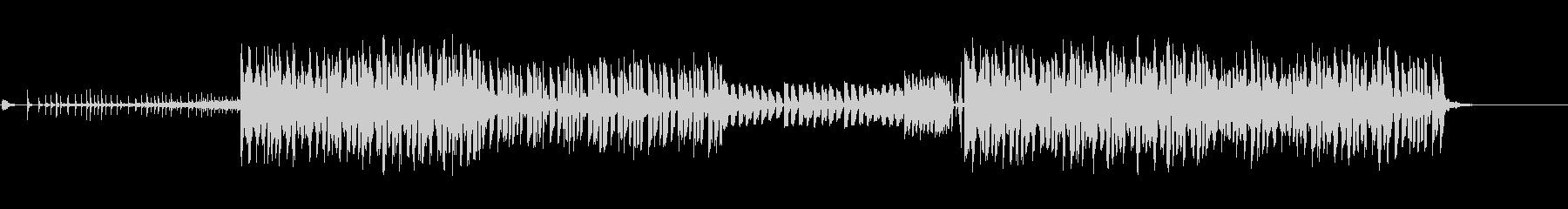 ノリの良いEDMのBGMの未再生の波形