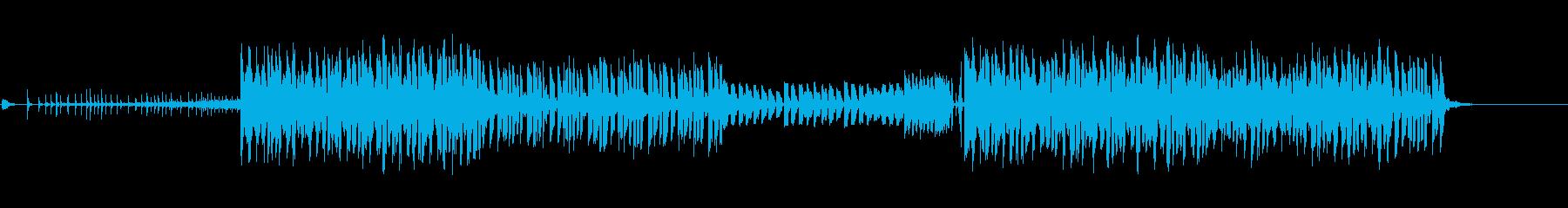 ノリの良いEDMのBGMの再生済みの波形