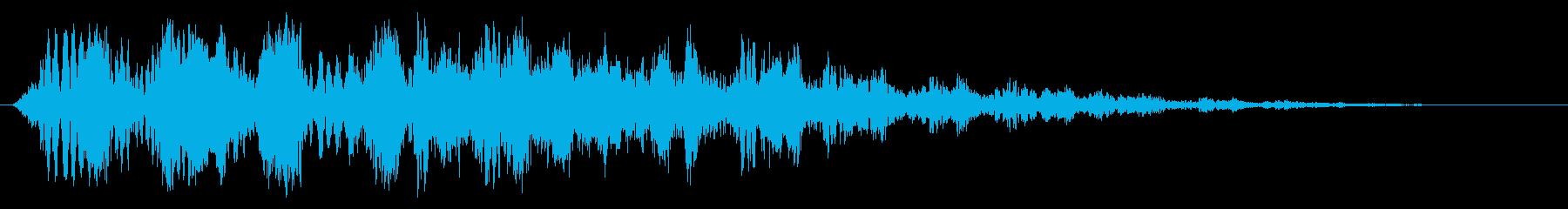 ピュルルルルルルン(下がっていく)の再生済みの波形