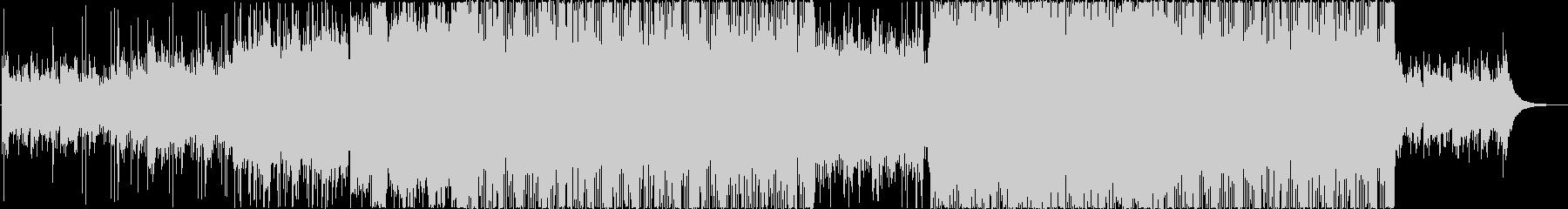 疾走感溢れるロックテイストBGMの未再生の波形