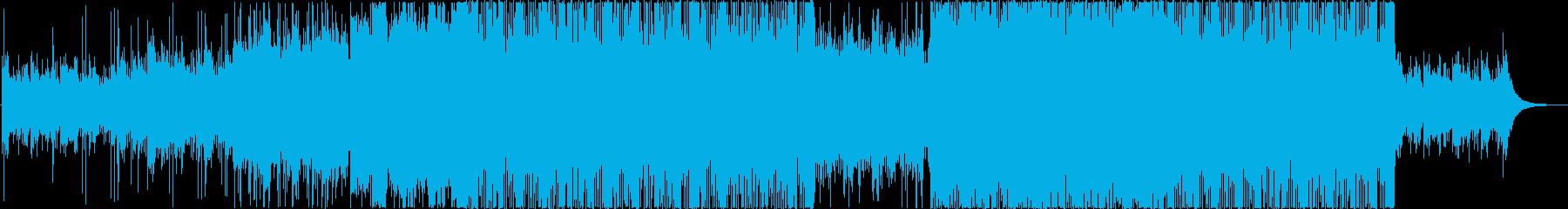 疾走感溢れるロックテイストBGMの再生済みの波形