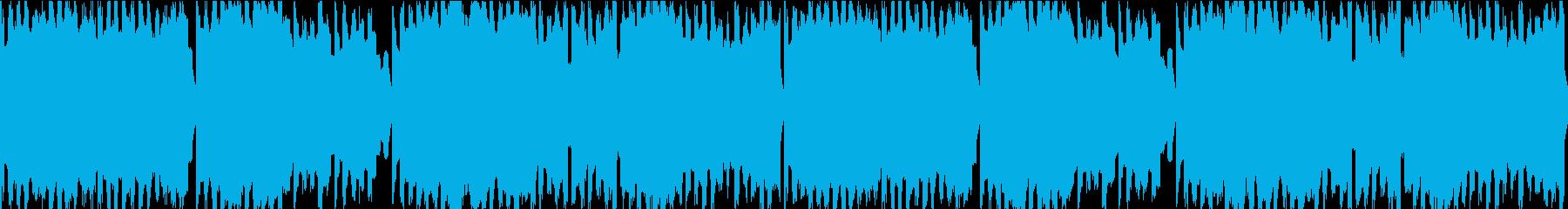 FC風ループ 地平線への再生済みの波形