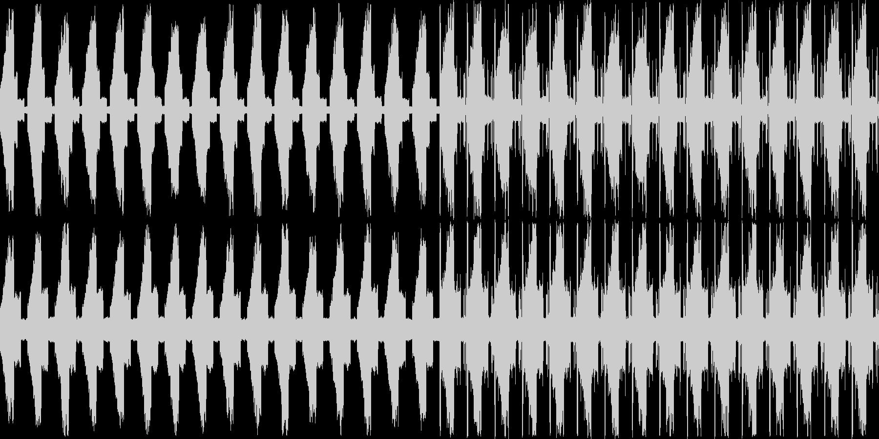 幻想的で浮遊感のあるお洒落な電子音の未再生の波形
