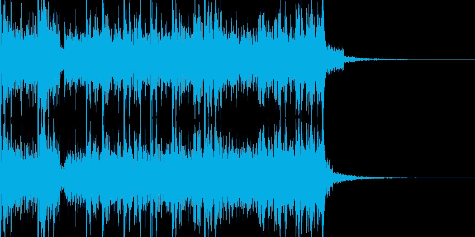 フューチャーサイエンスなサウンドロゴの再生済みの波形