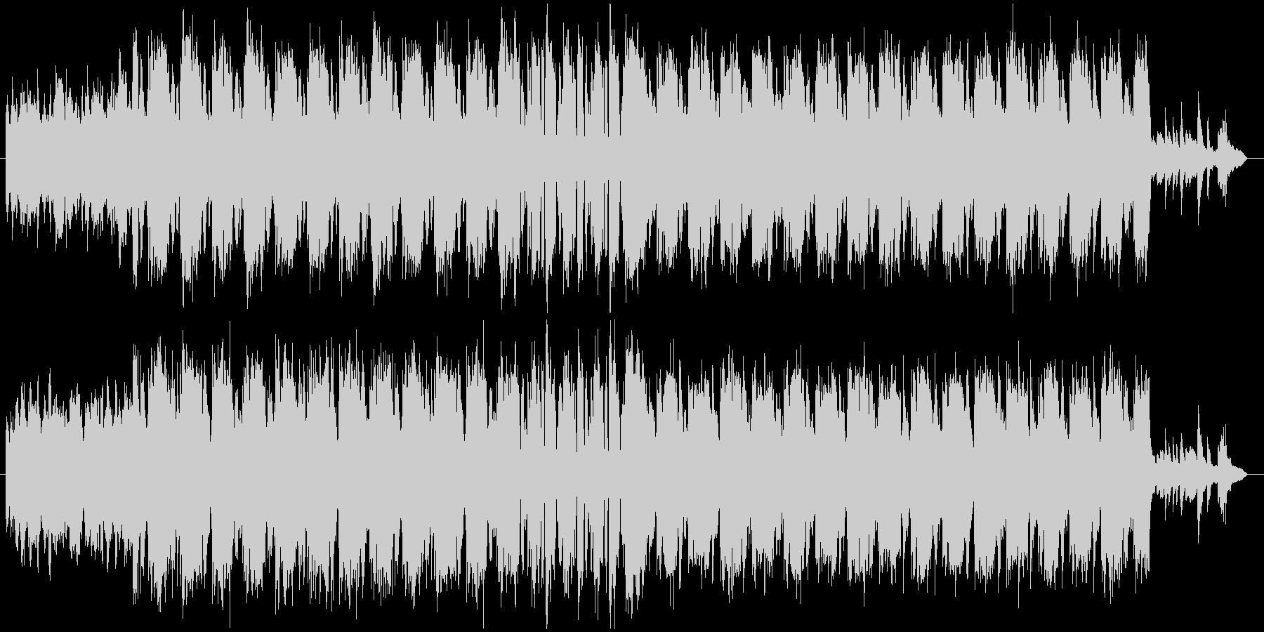 スクエアなリズムのシリアス曲の未再生の波形