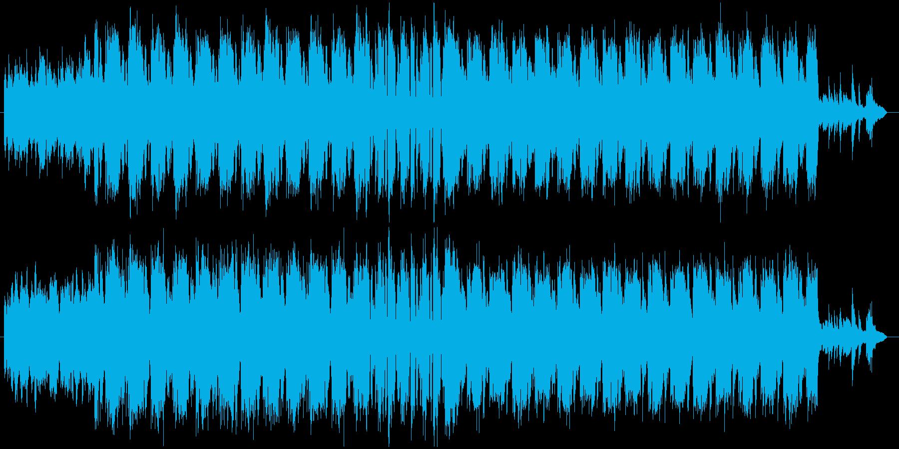 スクエアなリズムのシリアス曲の再生済みの波形