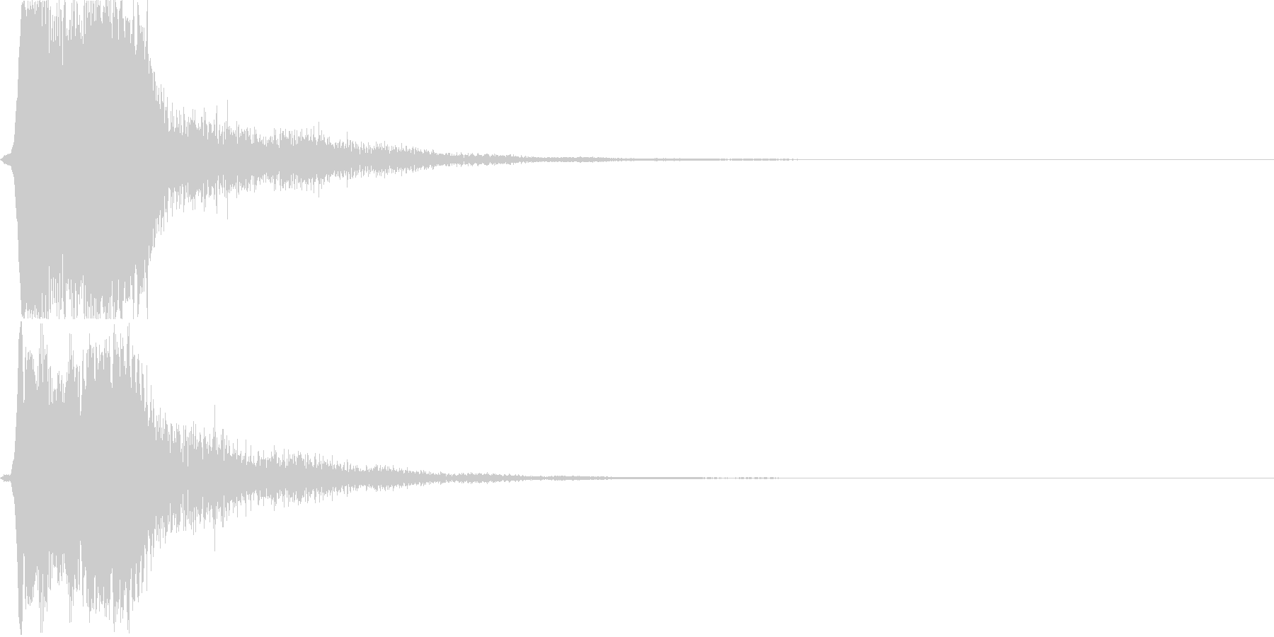 テロップ音03の未再生の波形