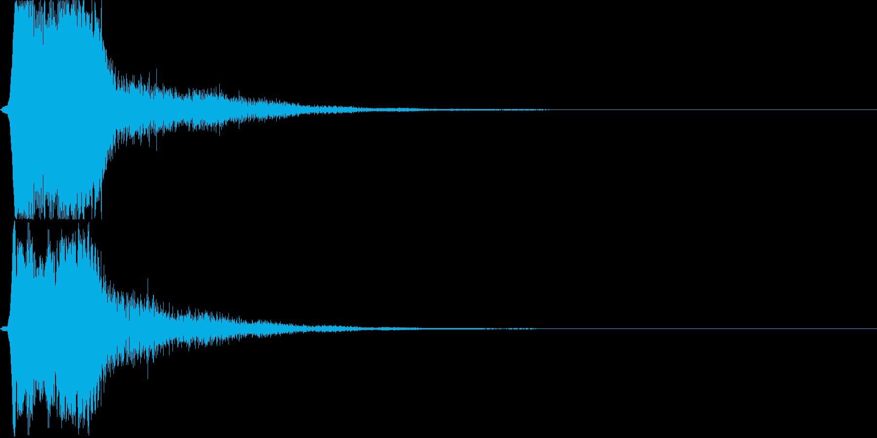 テロップ音03の再生済みの波形