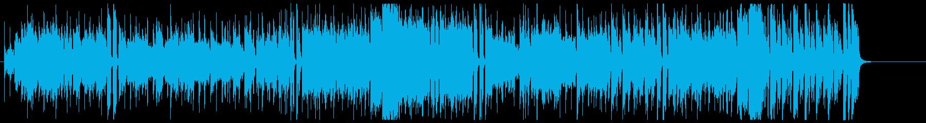 かっこいいオルガンファンク曲の再生済みの波形
