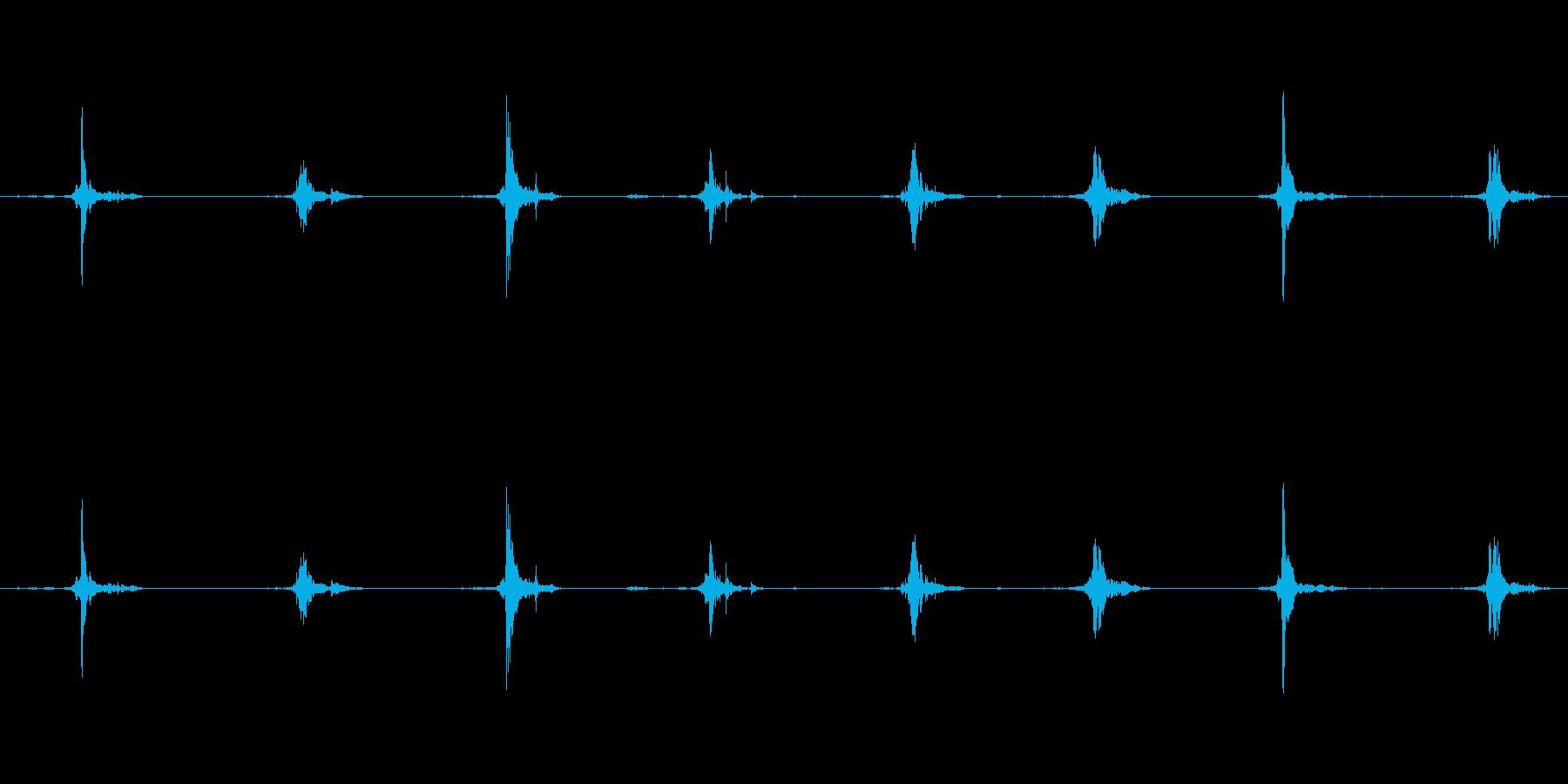 鳥 翼フラップ04の再生済みの波形