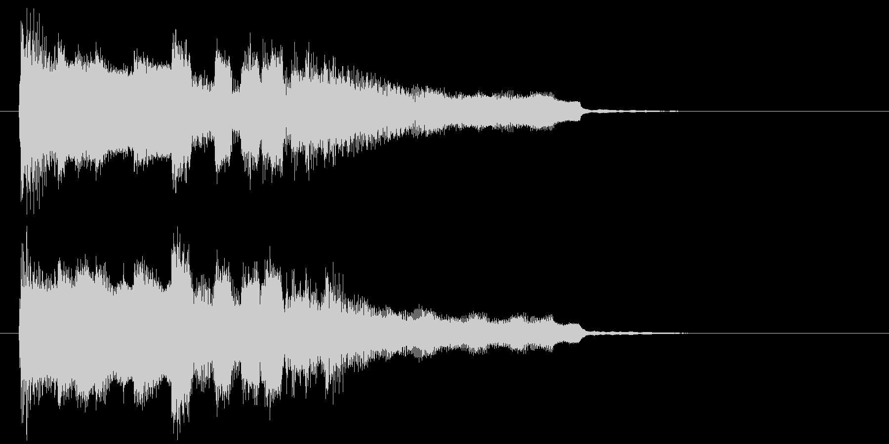 カートゥーン系のマヌケな場面のジングルの未再生の波形
