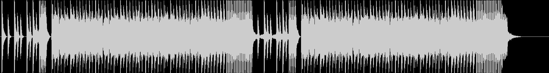 コミカルなゲームサウンドのBGMの未再生の波形