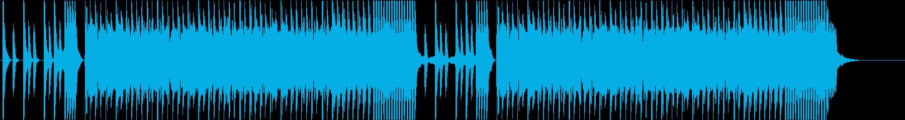 コミカルなゲームサウンドのBGMの再生済みの波形