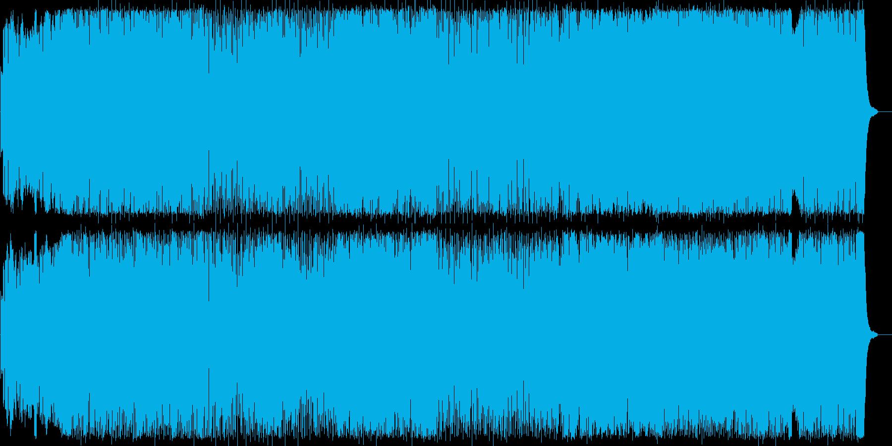 躍動感のある晴れやかロックの再生済みの波形