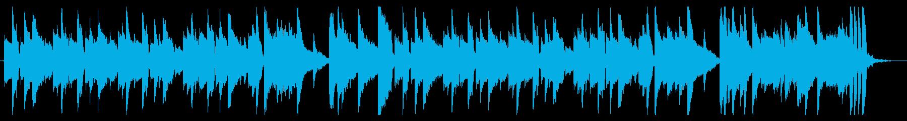 説明や日常に使えるシンプルなピアノ曲の再生済みの波形