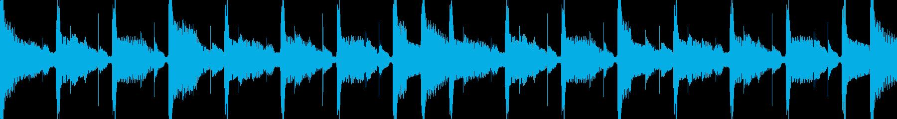 洞窟を進むようなイメージですの再生済みの波形