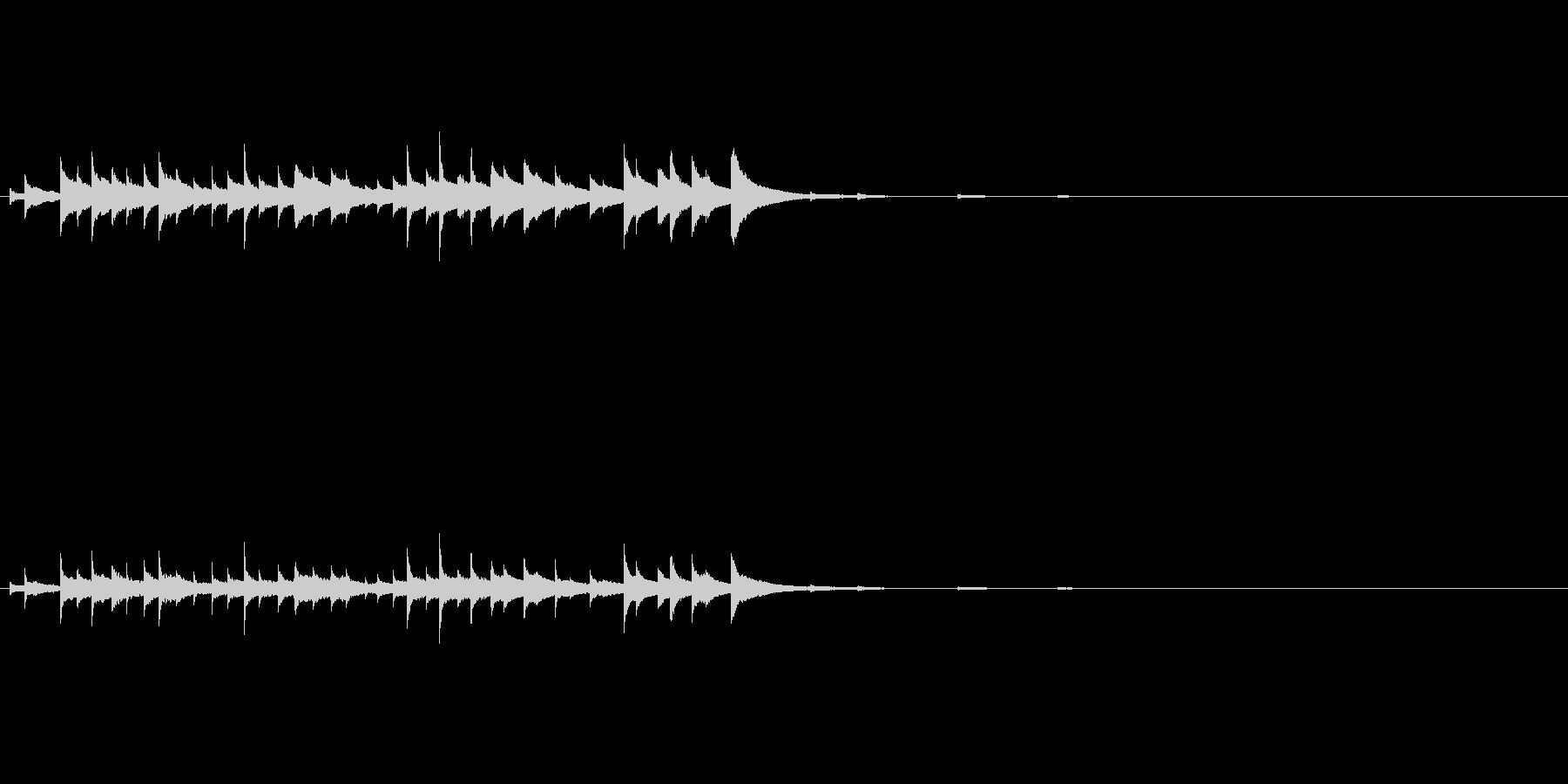 ハンギングベルリングの未再生の波形