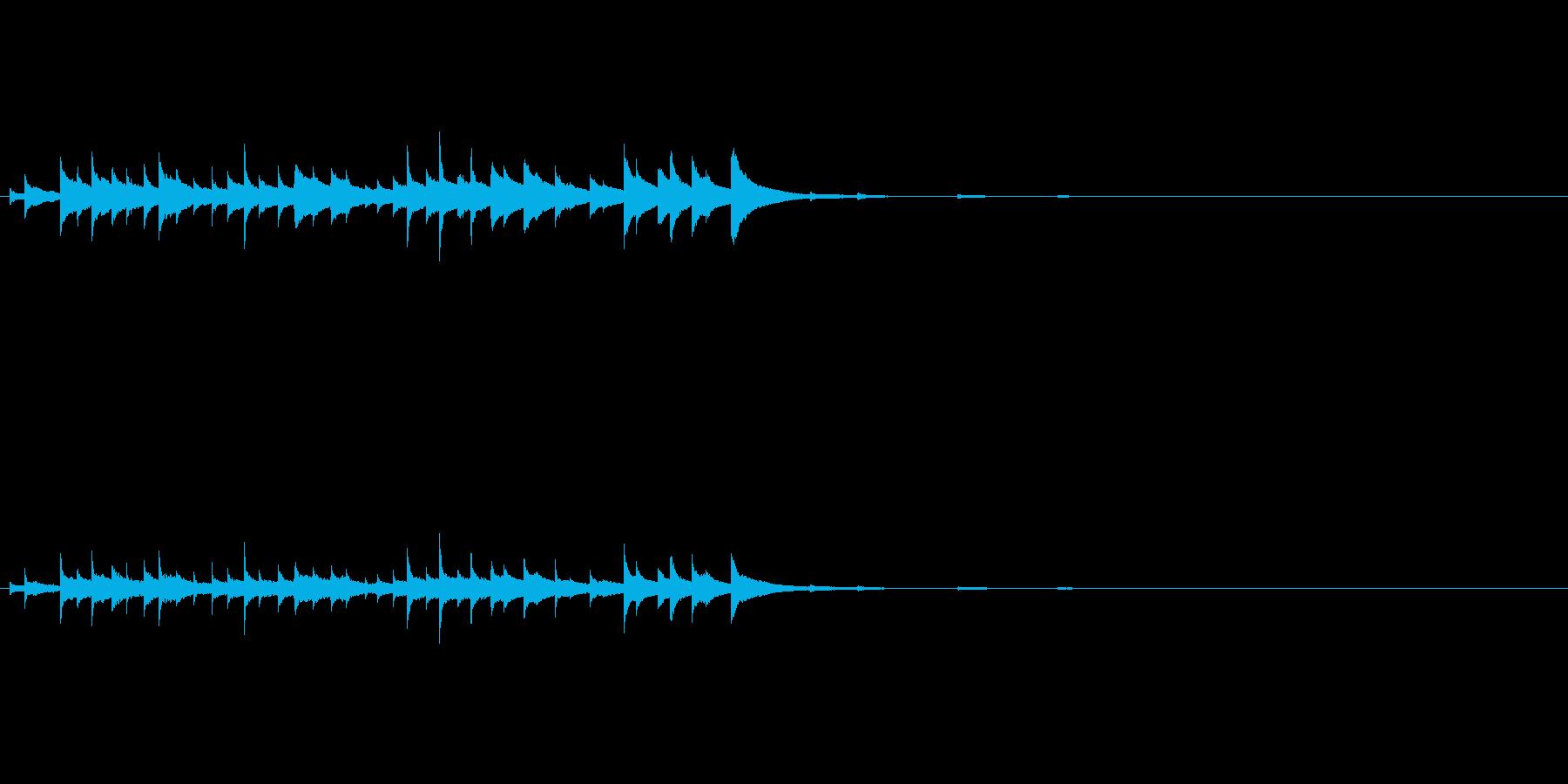 ハンギングベルリングの再生済みの波形