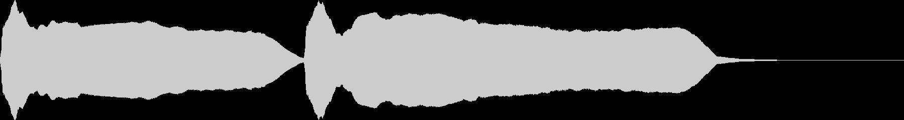 豆腐屋さんのラッパの未再生の波形