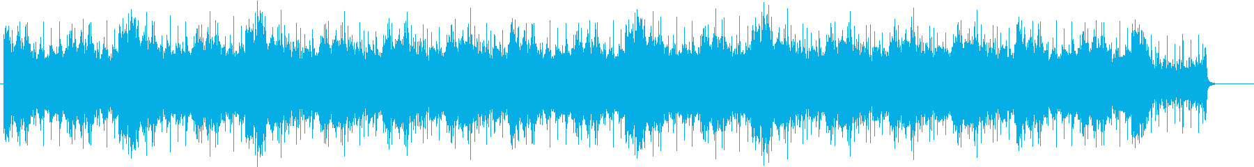 タイムラプス用BGMの再生済みの波形