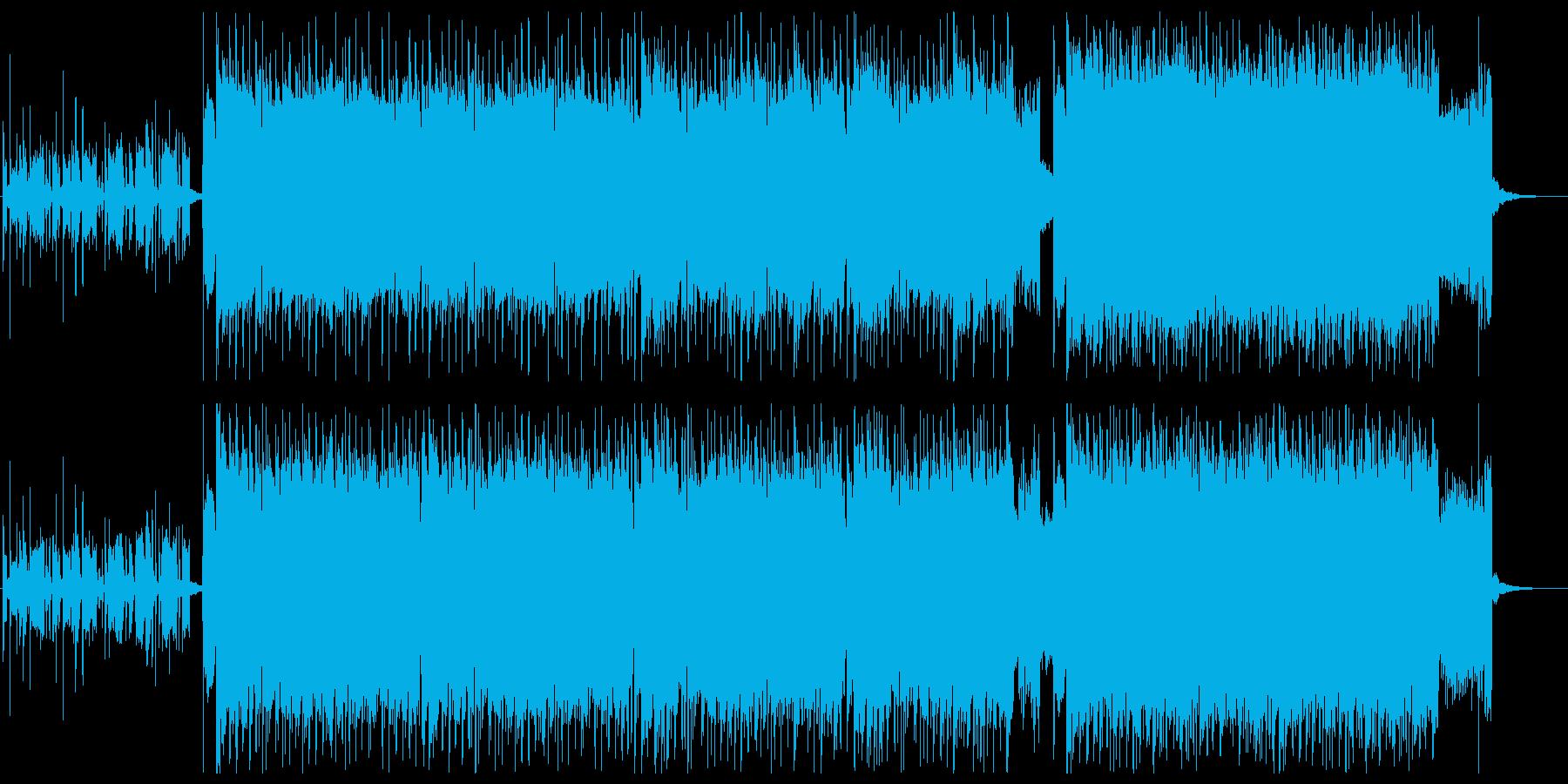シンプルで爽やかなロックの再生済みの波形