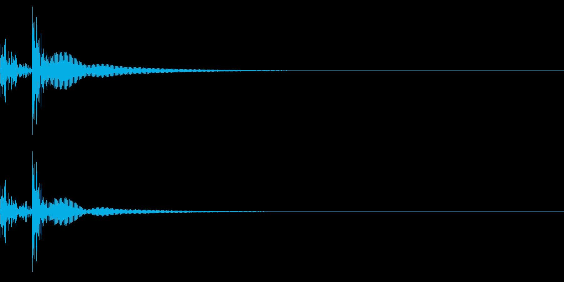 コンガ ボンゴ リフ3 キューバ ボタンの再生済みの波形