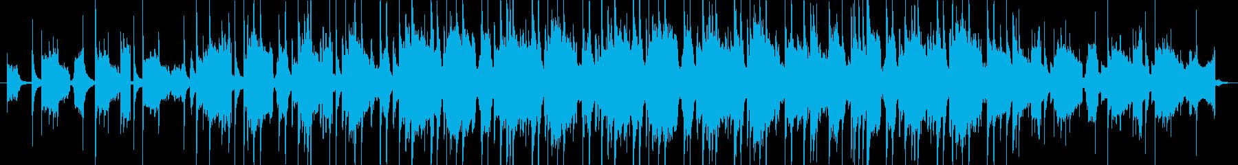 切ないピアノのカットアップの再生済みの波形