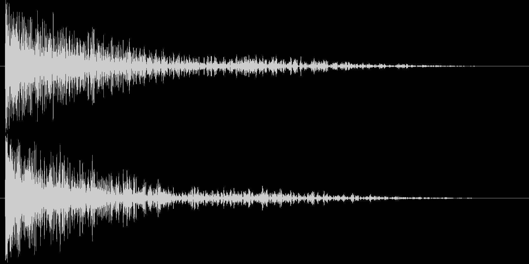 ドーン!・爆発系インパクト音の未再生の波形