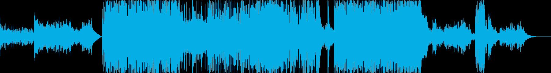 都節音階を使った和風ロックギター曲の再生済みの波形