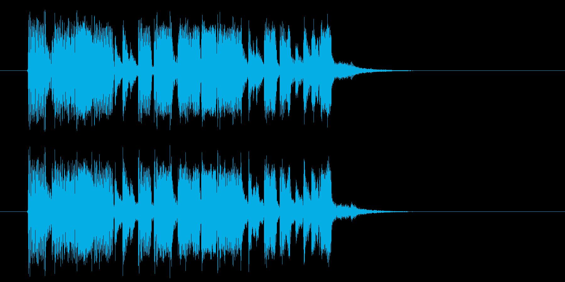 煌びやかで軽快なシンセポップジングルの再生済みの波形