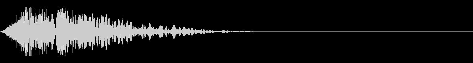 重量感のあるパンチ音01(+風切り)の未再生の波形