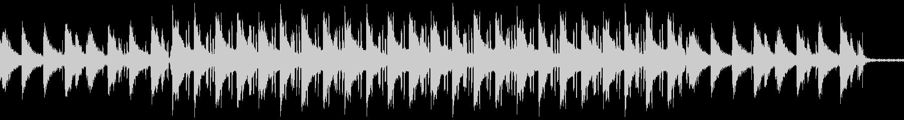 ローファイヒップホップ カフェの未再生の波形