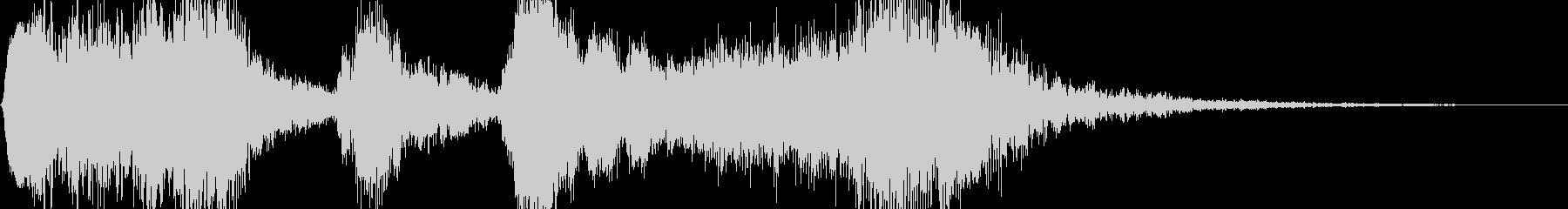 ゲームのレベルアップ時に流れるサウンドの未再生の波形