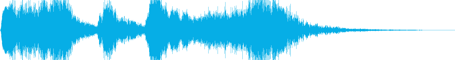 ゲームのレベルアップ時に流れるサウンドの再生済みの波形