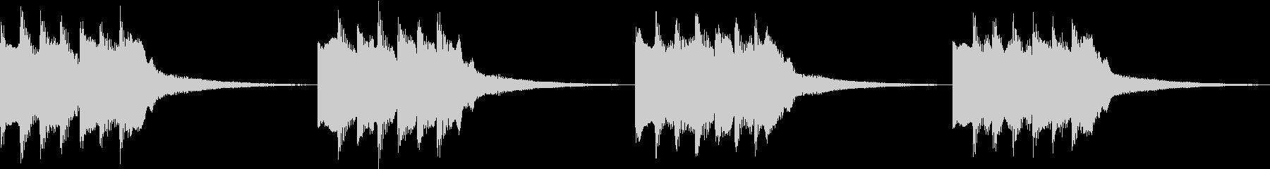 シンプル ベル 着信音 チャイム B-1の未再生の波形