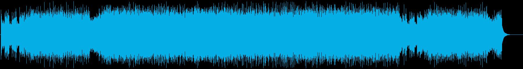 疾走感のあるパワフルなギターインストの再生済みの波形