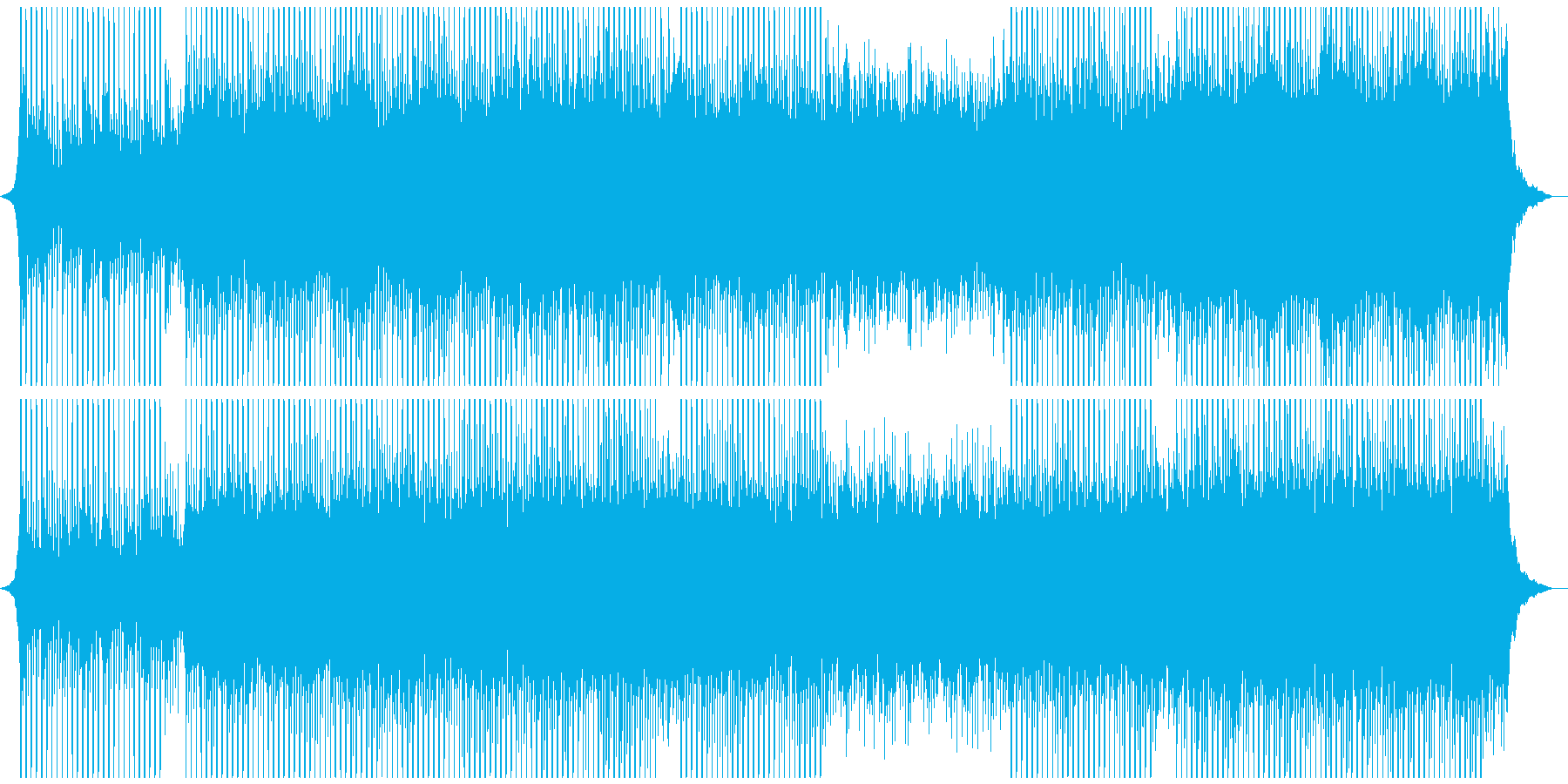 成功への再生済みの波形