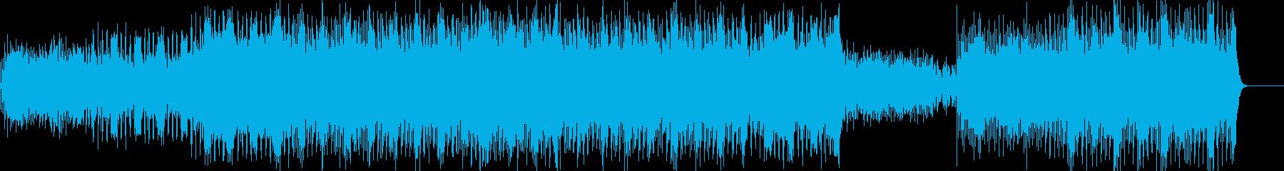 和風:敗走をイメージしたテクノの再生済みの波形