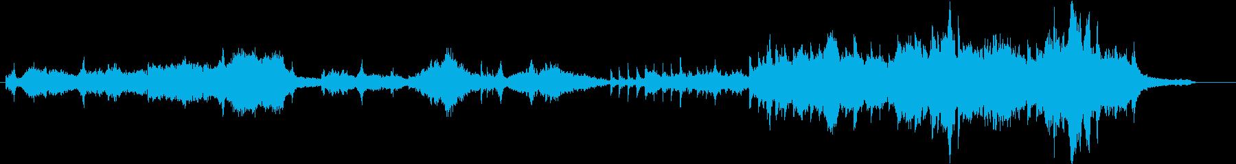 静かな繊細なオーケストラアンビエントの再生済みの波形